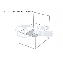 Custom 1-2-3 Bottom Display Lid Boxes