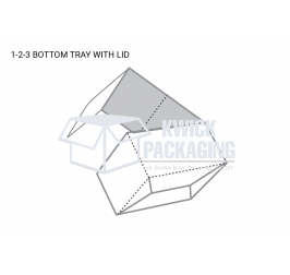 Custom 1-2-3 bottom tray with Lid Template