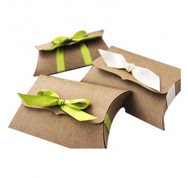 Custom Kraft Pillow Packaging Boxes