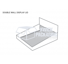 Custom Double Wall Display Lid Template