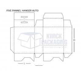 Five panel hanger auto Bottom Boxes Templates