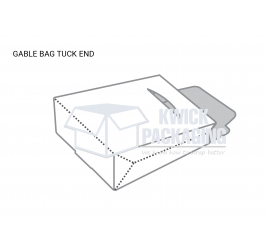 Custom Gable Bag Tuck end Packaging Boxes templates