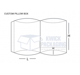 Custom Pillow Boxes Template
