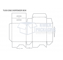 Custom Tuck End Dispenser Packaging Boxes