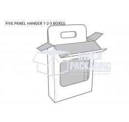 Five Panel Hanger 1-2-3 Bottom Boxes Templates