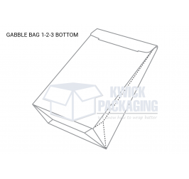 Gable Bag 1-2-3 Bottom Boxes Templates