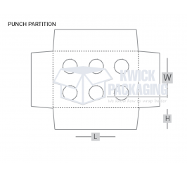 Custom Punch Partition Packaging Boxes Templates