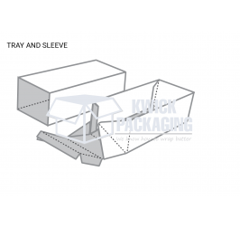 Custom Tray and Sleeve Packaging boxes Templates