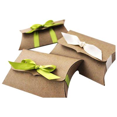 Custom Kraft Pillow Packaging Boxes